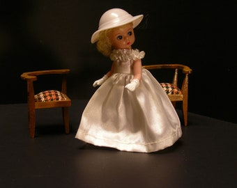 Vintage Handmade Dollhouse Corner Chair Set (1962)
