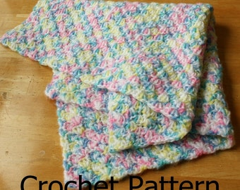 Easy crochet baby blanket, easy crochet pattern, crochet baby blanket pattern, crochet baby afghan pattern, crochet shell pattern