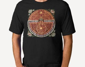 Psychic Map of the Mind Mandala Men's T-shirt, Thangka Unisex, Mens graphic tee, Gift for Him, Art T-shirt, Cool t-shirt