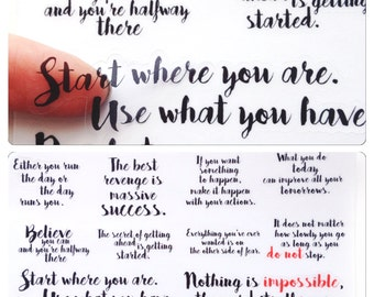 Quotes Clear Stickers! Perfect for the Erin Condren, Limelife, Plum Paper, Kikki Planners and Happy Planners!