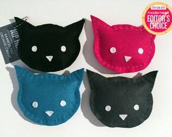 Cat Toy - 'Nip Heads - Bamboo Felt & Organic Catnip