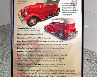 Car Show display 20x28 sign / great gift