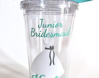 Will You Be My Junior Bridesmaid   Junior Bridesmaid Personalized Tumbler   Bridesmaid Gift, Bridesmaid Proposal - 16 oz Tumbler