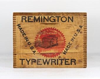 Vintage Remington Typewriter Wood Crate, Remington Typewriter Crate, Typewriter Wood Crate, Vintage Typewriter Crate Wooden Crate Wood Crate