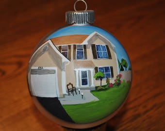 New Home hand painted ornament  -  sold