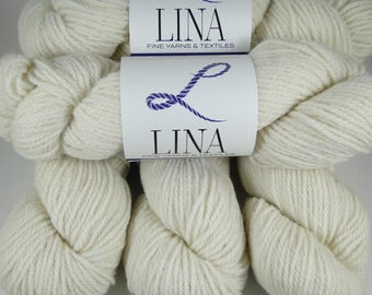 50/50 Alpaca/Wool blend yarn, natural white