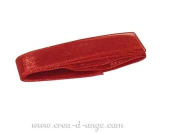 Orange in 1 meter red Organza Ribbon