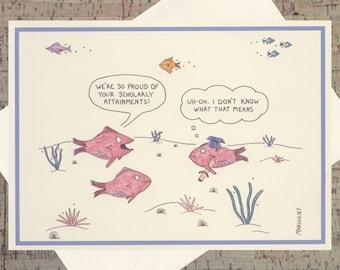 Graduation Card, Funny Graduation Card, Congrats Grad, Funny Congrats Card, Funny Congratulations Card, Funny Card, Ocean Card