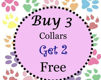 BOGO Collar - Buy 3 Collars - Get 2 Collars Free (Non Martingale & Non Canvas) - Choose Any Cotton Fabric in Shop
