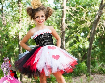 Queen of Hearts Tutu Dress - Alice in Wonderland tutu - size newborn to 5t - queen of hearts tutu costume - crown not included