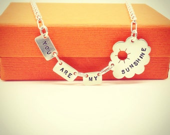 You Are My Sunshine necklace sterling silver