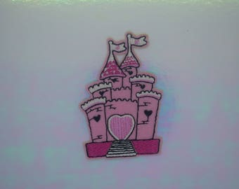 Pink Princess Castle Iron on Patch