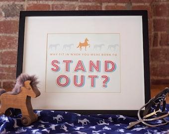 American Saddlebred Instant Download Equestrian Art