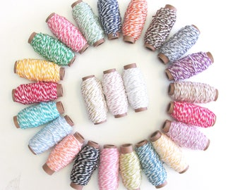 Bakers Twine 24 Spools Collection -  Bakers Twine Collection - 4 ply  - Cotton - 360 yards
