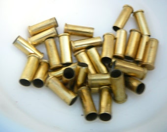 Lot of 30 spent used 22 brass bullet shell casings for crafts