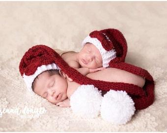 Newborn Twin Hats, Twins Hats, Christmas Twins, Hats for Twins, Twin Baby Gifts, Twins Elf Hats, Twins Hats Set, Twin Sets, MADE 2 ORDER