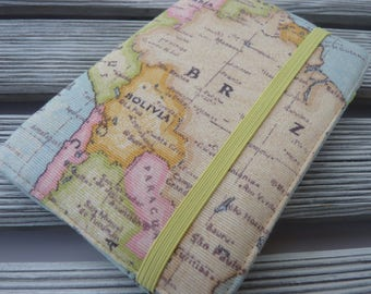 Word Map Passport holder, Passport cover, Passport wallet, Passport Case, Travel gift, Map passport sleeve, Gift for Traveler