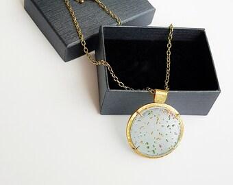 Round pendant necklace.Contemporary jewelry.Unique pendant
