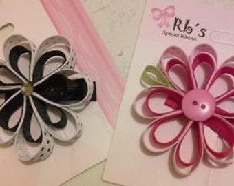 Hair Bows Girls Flowers (15 unit)