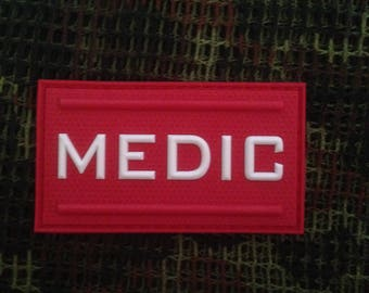 Medic Morale Patch 3D Glow in The dark  Morale Patch