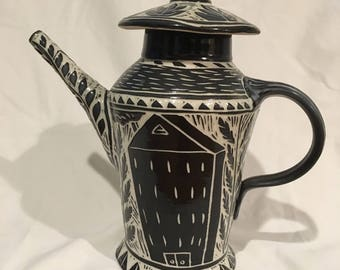 Handcrafted ceramic teapot