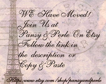 Moved to Pansy & Perle on Etsy