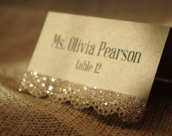 Sparkly Lace Place Card
