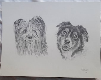 Double pet portrait of company