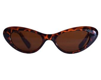 Ultimate 90's Deadstock Smaller Lens Cat Eye 90s Sunglasses - Tortoise Brown or Black