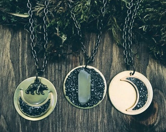 Moon Necklace | Pyrite Collection