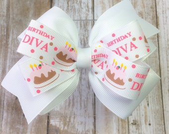 Girls Birthday Hair Bow - Girls Hair Bow - Toddler Birthday Bow - Birthday Girl Hair Bow - Birthday Hair Bow - Hair bows for girls