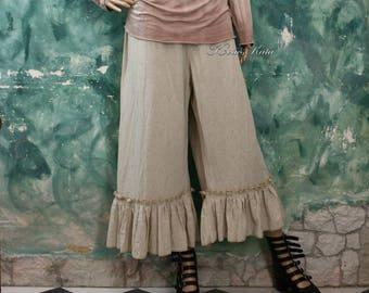 Hermiona Bloomers - Rustic Linen Lagenlook Pants