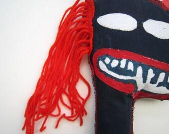 Primitive art Basquiat mask tribal decoration living wall black artist New York 80' Picasso graffiti street art gift birthday graduation art