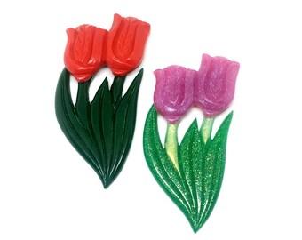Tulip Brooch 1940s Vintage Reproduction