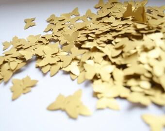 Butterfly wedding confetti, mini butterfly die cuts, Gold butterfly diecuts, butterfly wedding decor, silver confetti, gold confetti