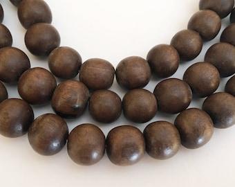 "12mm round wood beads, wood beads, wood round, natural wood beads, wood 12mm 16"" strand"