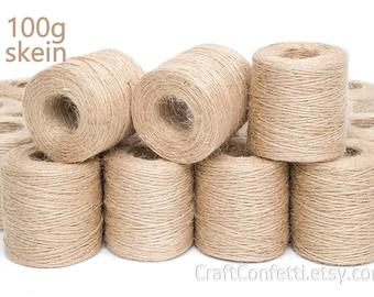 Jute twine 1.5mm Jute cord Jute string Home decor twine Jute bag supplies Gift tag string Macrame cord Craft twine Burlap string cord / 100g
