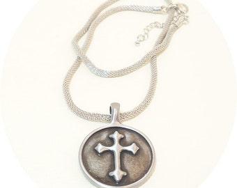 Mens Cross, Cross Necklace, Christian Jewelry, Mens Christian Necklace, Mens Jewelry, Cross Jewelry