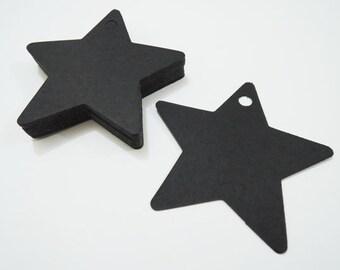 Black Paper Tags - 50pcs Black Tags Star Tag Price Tags Hang Tags Gift Tags Black Tag Plain Tags Clothing Tag Plain Tags with Hole 6cm x 6cm