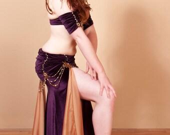 Elegant Velvet Cabaret Belly Dance Costume