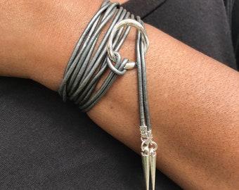 Choker Necklace, Leather Choker, Leather Wrap Choker, Gift for Her, Lariat Necklace, Leather Choker Wrap, Boho Choker, Bohemian Jewelry
