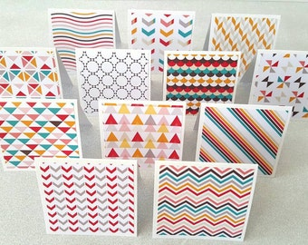 Mini birthday cards / small birthday cards / birthday note cards / happy birthday notes