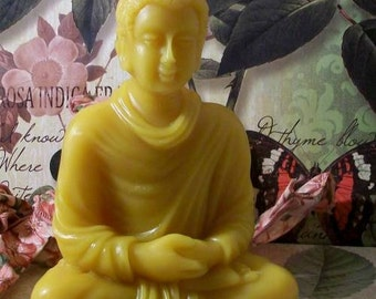 Beeswax Sitting Buddha Candle