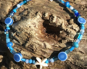 White Starfish ankle bracelet