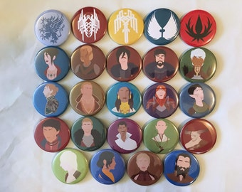Dragon Age Pinback Buttons
