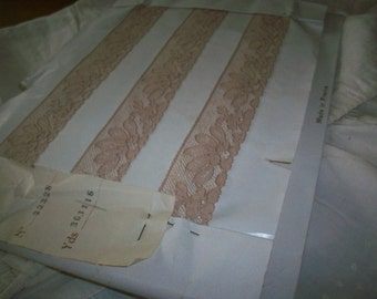 Antique lace by the yard or roll alencon lace french  1920 yardage pure cotton