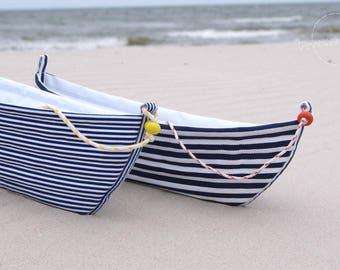 Boat Basket Home Decor, Sea House, Lake House, Desk Organizer, Table Decor, Dedroom Decor, Fabric Basket. Fabulous Gift for Your Home!