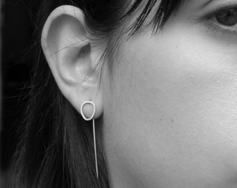 Drop Earrings-sterling silver