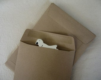 A5 Brown Kraft Paper Open End Envelopes - Set of 20  (size 6 3/8 x 9 inches or 16 x 23 cm.)