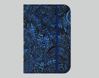Kindle Cover Hardcover, Kindle Case, eReader, Kobo, Kindle Voyage, Kindle Fire HD 6 7, Kindle Paperwhite, Nook GlowLight Blue Batik